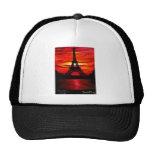 BEAUTIFUL EIFFEL TOWER PARIS FRANCE AT SUNSET TRUCKER HAT