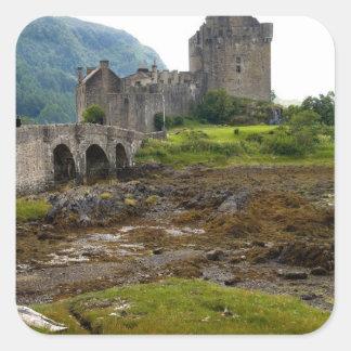 Beautiful Eileen Donan Castle in Western Dornie 2 Square Sticker