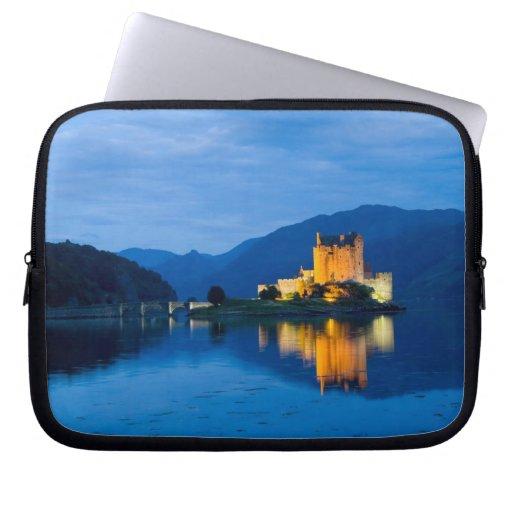 Beautiful Eileen Donan Castle in Western Dornie Laptop Sleeves