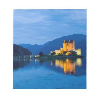 Beautiful Eileen Donan Castle in Western Dornie Notepad