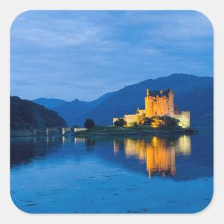 Beautiful Eileen Donan Castle in Western Dornie Square Sticker