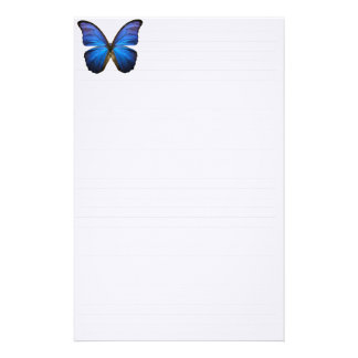 Beautiful Electric Blue Butterfly Stationery