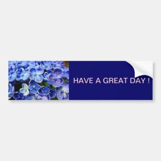 Beautiful elegant abstract soft blue flowers bumper sticker