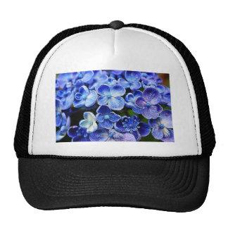 Beautiful elegant abstract soft blue flowers trucker hat