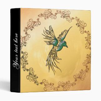 Beautiful,  elegant bird vinyl binder
