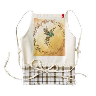 Beautiful,  elegant bird zazzle HEART apron