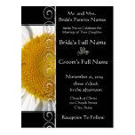 Beautiful Elegant Daisy Wedding Invitation Postcard