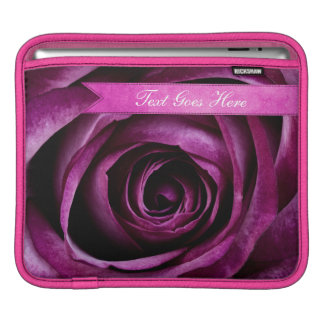 Beautiful Elegant Dramatic Purple Rose with Ribbon iPad Sleeve