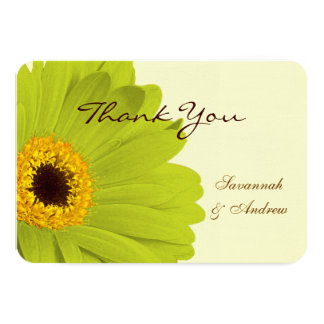 Beautiful Elegant Gerber Daisy Wedding Thank You Card