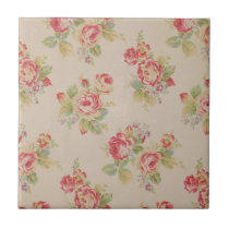 Beautiful elegant girly vintage floral pattern ceramic tile