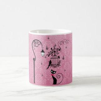 Beautiful elegant girly vintage love birds cage coffee mug