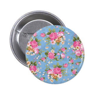Beautiful elegant girly vintage roses flowers 2 inch round button