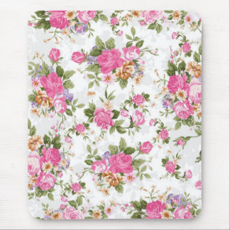 Beautiful elegant girly vintage roses flowers mouse pad