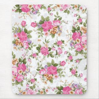 Beautiful elegant girly vintage roses flowers mouse pad