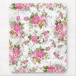 Beautiful elegant girly vintage roses flowers mousepad