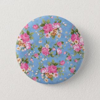 Beautiful elegant girly vintage roses flowers pinback button