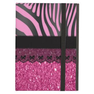 Beautiful elegant girly  zebra shinning glitter iPad air covers