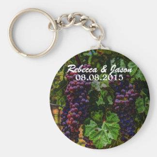 Beautiful Elegant Grapes on The Vine Keychain