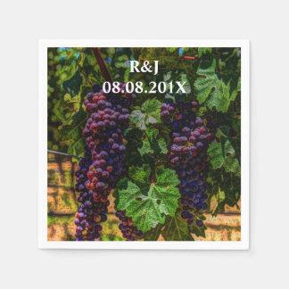 Beautiful Elegant Grapes on The Vine Paper Napkin