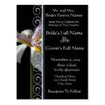 Beautiful Elegant Orchid Wedding Invitation Postcard
