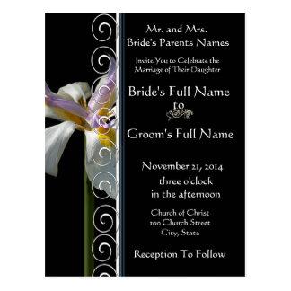 Beautiful Elegant Orchid Wedding Invitation Post Cards