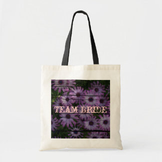 Beautiful elegant purple daisy floral design canvas bags
