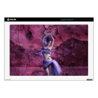Beautiful elegant purple mysterious Lady Decal For Laptop