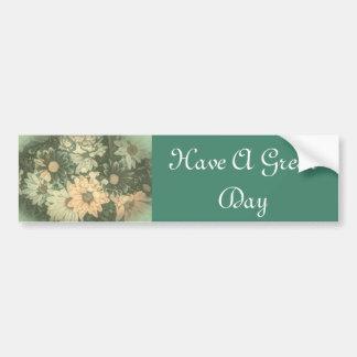 Beautiful elegant soft green floral design bumper sticker