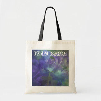Beautiful elegant soft purple and blue iris tote bags