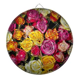 beautiful elegant stylish colorful roses photo dartboard