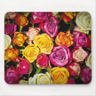 beautiful elegant stylish colorful roses photo mouse pad