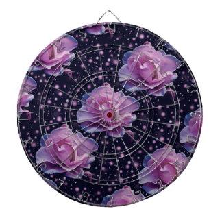 beautiful elegant stylish flower | purple rose dart board