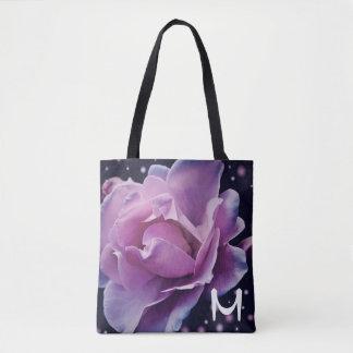 beautiful elegant stylish flower | purple rose tote bag