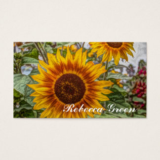 Beautiful elegant sunflower business card