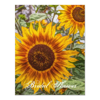Beautiful elegant sunflower card