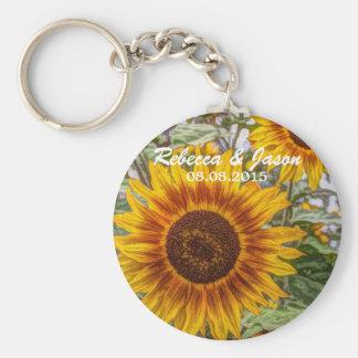 Beautiful elegant sunflower keychain