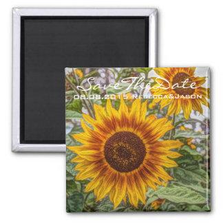 Beautiful elegant sunflower magnet
