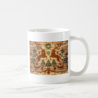 Beautiful elegant two stag design coffee mug
