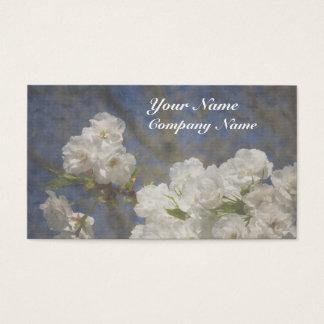 Beautiful Elegant White Flowers Business Card
