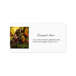 Beautiful elf address label