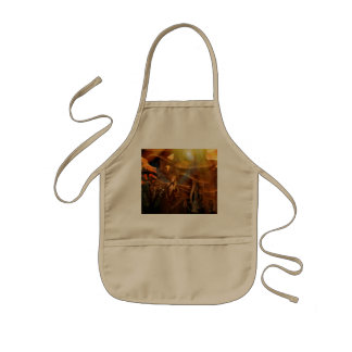 Beautiful elf flying in the sunset kids' apron
