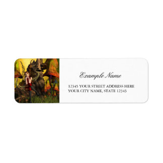 Beautiful elf return address label