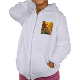 Beautiful elf sitting in the garden with flowers sweatshirts