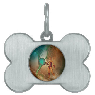 Beautiful elf wirh mystikoi pet ID tags
