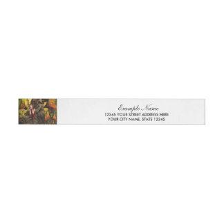 Beautiful elf wraparound address label
