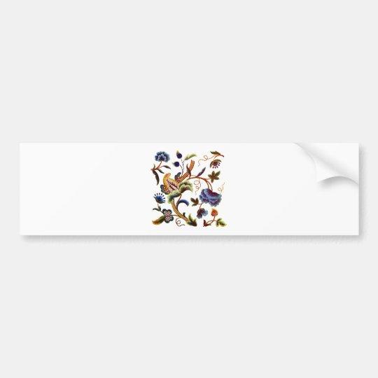 Beautiful Elizabethan Jacobean Embroidery Bumper Sticker