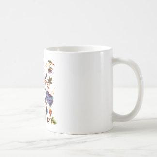 Beautiful Elizabethan Jacobean Embroidery Coffee Mugs