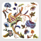Beautiful Elizabethan Jacobean Embroidery Square Sticker