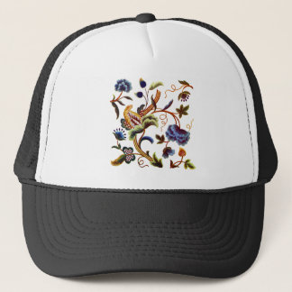 Beautiful Elizabethan Jacobean Embroidery Trucker Hat
