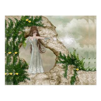 Beautiful Elven Magic Fantasy Design Postcard